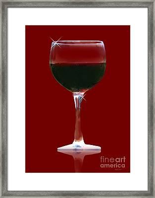 Red Wine Framed Print by Stephanie Laird