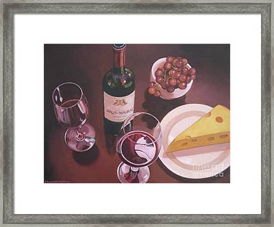 Red Wine Still Life I Framed Print by Elisabeth Olver