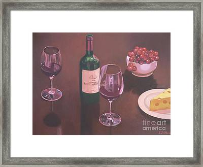 Red Wine Still Life II Framed Print by Elisabeth Olver