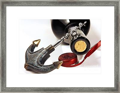 Red Wine Tasting Framed Print by Stefano Senise