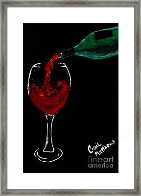 Red Wine Toast Framed Print by Gail Matthews
