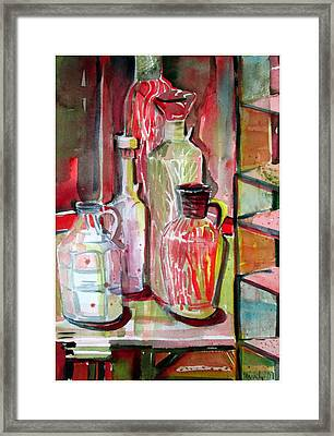 Red Wine Vinegar Framed Print by Mindy Newman