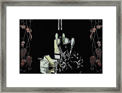 Red Wine With Cheese Framed Print