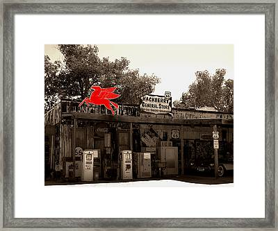 Red Winged Horse Framed Print by Leticia Latocki
