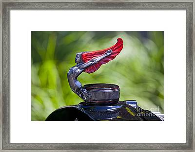 Red Wings Hood Ornament Framed Print