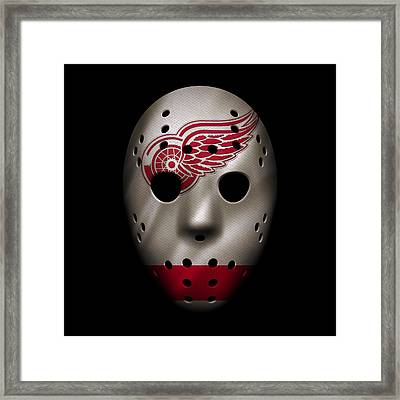 Red Wings Jersey Mask Framed Print