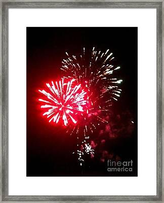 Red Works Framed Print