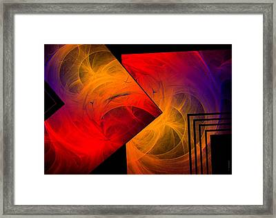 Red Yellow And Blue Mix Framed Print by Mario Perez