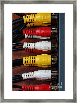 Red Yellow And White Cables Framed Print by Amy Cicconi