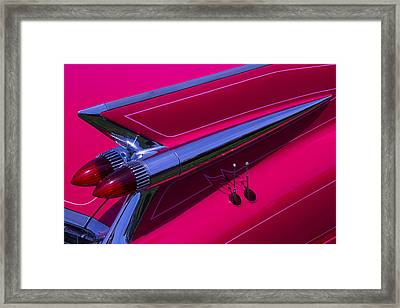 Red1959 Cadillac Framed Print by Garry Gay