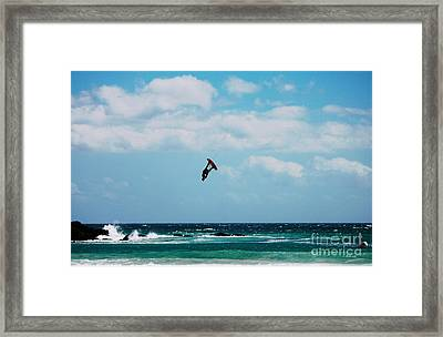 Redbull King Of The Air Competition Cape Town South Africa Framed Print by Charl Bruwer