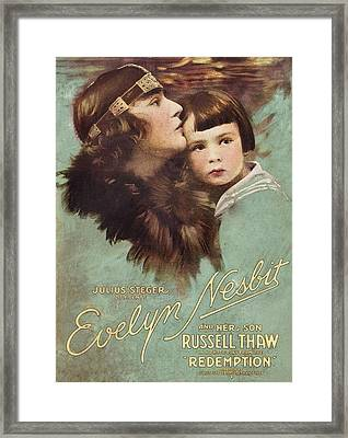 Redemption, L-r Evelyn Nesbit, Russell Framed Print by Everett