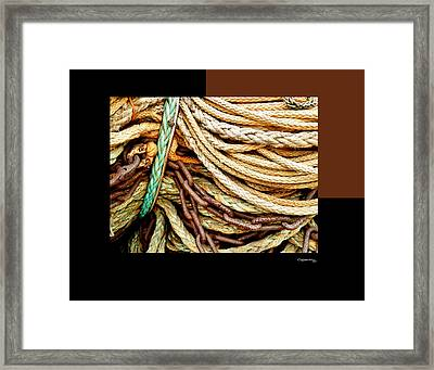 Redes 6 Framed Print by Xoanxo Cespon