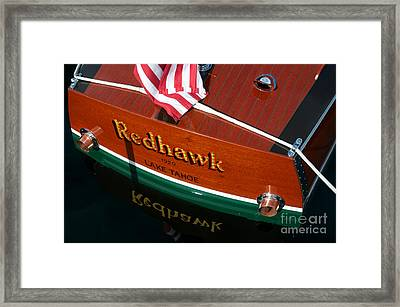 Framed Print featuring the photograph Redhawk by Vinnie Oakes