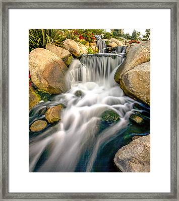 Framed Print featuring the photograph Redhawk Waterfall by Robert  Aycock