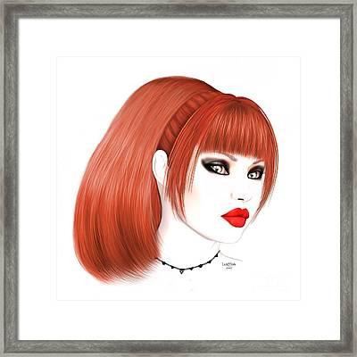 Redhead Cassia Framed Print