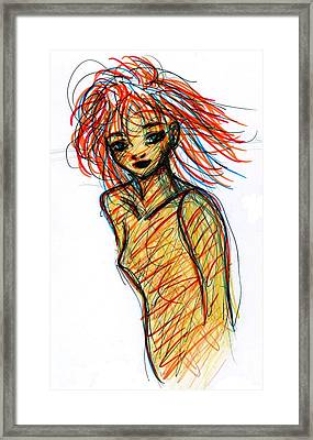 Redhead I Framed Print by Rachel Scott