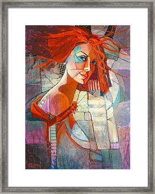 Redhead Framed Print by Jennifer Croom