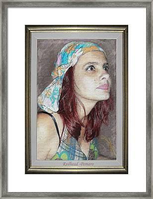 Redhead Framed Print by Pemaro