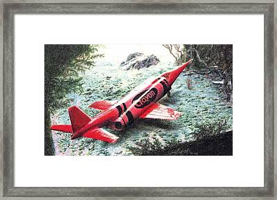 Redjet Framed Print