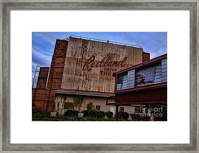 Redland Drive In Theatre Framed Print