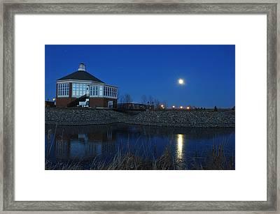 Redlin Art Center In Full Moon Framed Print by Dung Ma