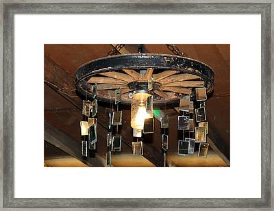 Redneck Chandelier Framed Print by Cynthia Guinn