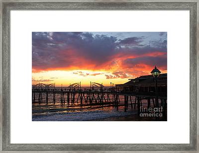 Redondo Pier Sunset Framed Print