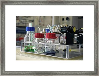 Redox Flow Batteries Framed Print