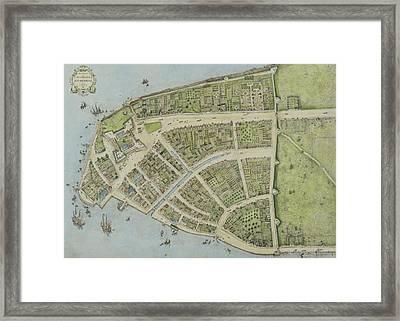 Redraft Of The Castello Plan Framed Print by John Wolcott Adams