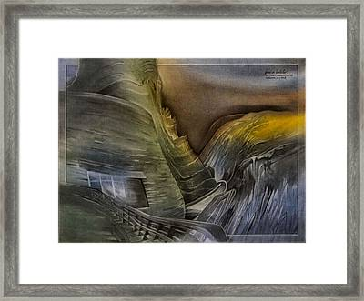 Framed Print featuring the pastel Redrocksamphiscape 2010 by Glenn Bautista