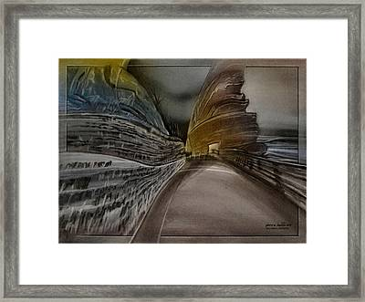 Framed Print featuring the pastel Redrocksamphiscapec 2010 by Glenn Bautista