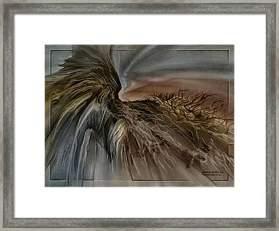 Framed Print featuring the pastel Redrockscape 2010 by Glenn Bautista