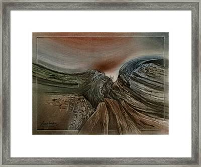 Framed Print featuring the pastel Redrockscapeb 2010 by Glenn Bautista