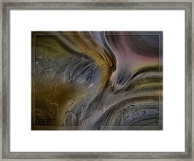 Framed Print featuring the pastel Redrockscapec 2010 by Glenn Bautista