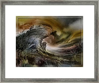 Framed Print featuring the pastel Redrockscaped 2010 by Glenn Bautista
