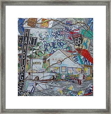 Reds Giant Hamburg Route 66 Type Framed Print by Phil Jackson
