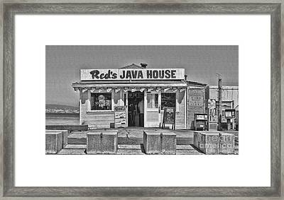 Red's Java House San Francisco By Diana Sainz Framed Print