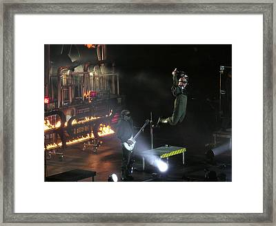 Red's Lead Singer Can Fly Framed Print by Aaron Martens