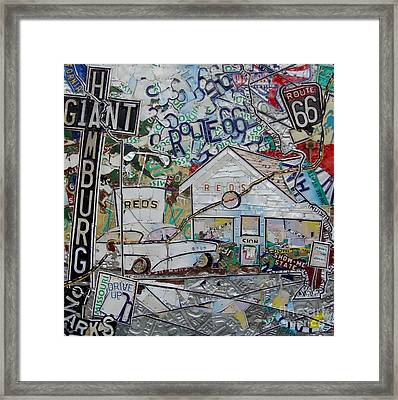 Reds Route 66 Giant Hamburg Framed Print by Phil Jackson
