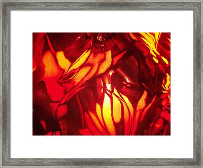 Reds Stained Glass Framed Print
