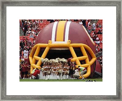 Redskins Cheerleaders Framed Print by Natalie Ortiz