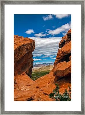 Redstone Framed Print by Robert Bales