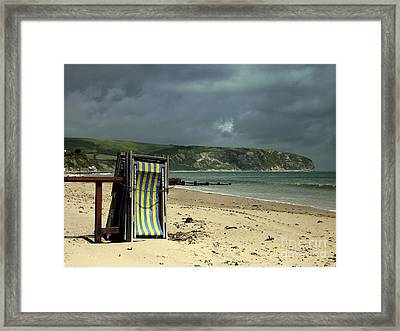 Redundant Deck Chairs Framed Print by Linsey Williams