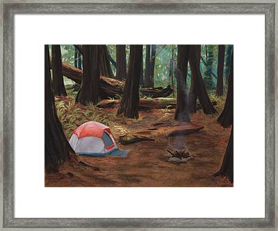 Redwood Campsite Framed Print by Christopher Reid