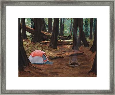 Redwood Campsite Framed Print