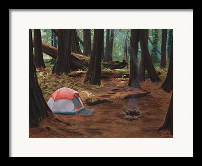 Camping Framed Prints