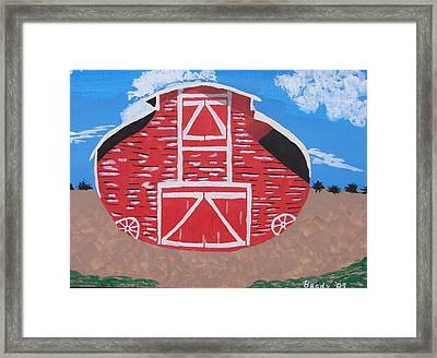 Redwood Farm Barn Framed Print