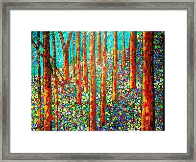 Redwood Hillside Framed Print