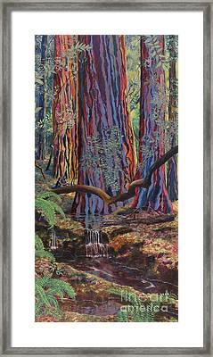 Redwood Picnic Framed Print by Cheryl Myrbo
